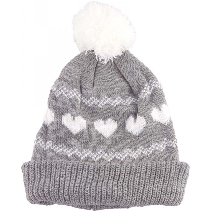 Girls Bobble Hat Grey
