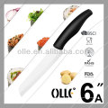 White Saw Blade ABS Handle Ceramic Bread Knfie