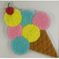 Multicolor Icecream 2019 Chenille Patch pour Vêtements Enfants