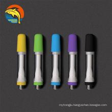 Custom logo packaging child lock ceramic vape cartridges 0.5ml empty cartridge press-in tip 1ml cartridges 510