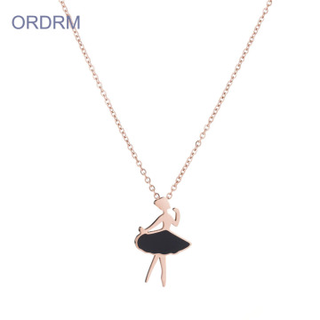 Lucu Ballerina Dancing Pendant Necklace For Child