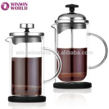 Wholesale new product high borosilicate glass french coffee press handblown glassware