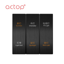 ACTOP Stainless Steel Touch Switch Push Button Switches
