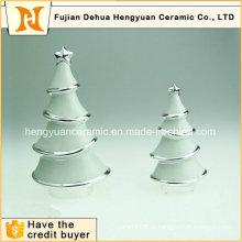 Гальваника Белое керамическое украшение елки