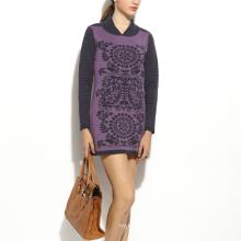 17PKCS167 2017 women winter warm trendy 85/15 cotton cashmere dress
