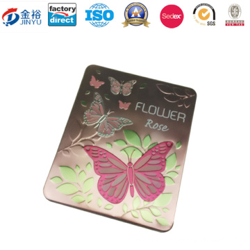 Embossing Metal Tin Container for Perfume Cosmetic Packaging