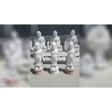 Best quality giant white marble amitabha buddha statues with lotus pedestal