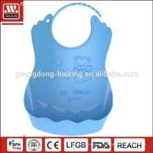 HAIXING pe мягкие пластиковые ребенок нагрудник