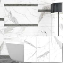 60X60cm White Speckled Ceramic Porcelanto Marble Glazed Floor Tiles