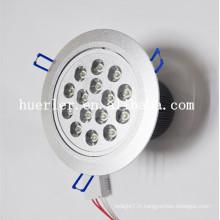 Haute qualité produits AC85-265v 48v dc 12w 15w 18w aluminium 15w supermarché conduit éclairage de plafond