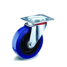Промышленные синие эластичные резиновые поворотные ролики