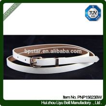 PU Women Belts White Thin Casual Straps for Female Jeans Cinch Cintos Designer Brand