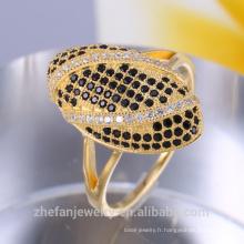 gros bijoux en or 18k fantaisie anneaux pour les femmes