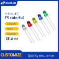 In-line LED f5 colorful high power lamp beads