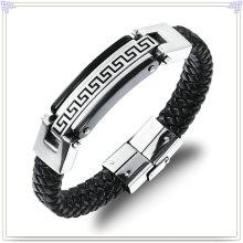 Bracelet en acier inoxydable en cuir Bracelet en cuir en cuir (LB100)