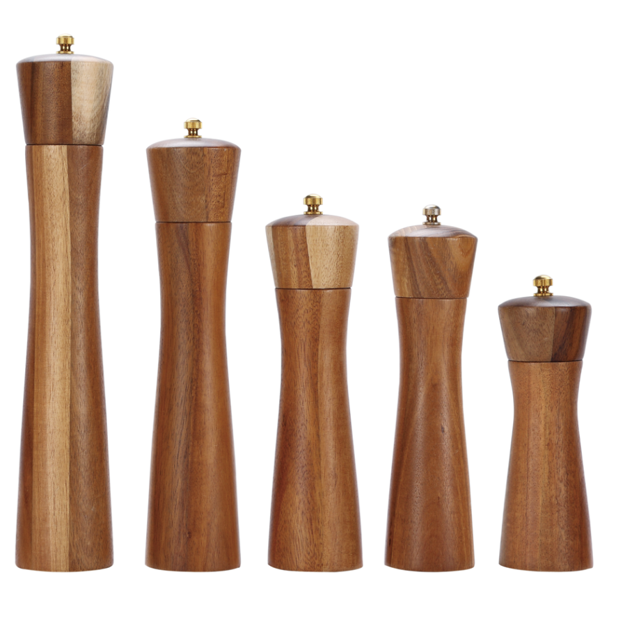 Tall Wooden Salt And Pepper Shakers