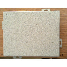 Spray PVDF Revêtement Feuille d'aluminium massif avec types de formes Mur rideau