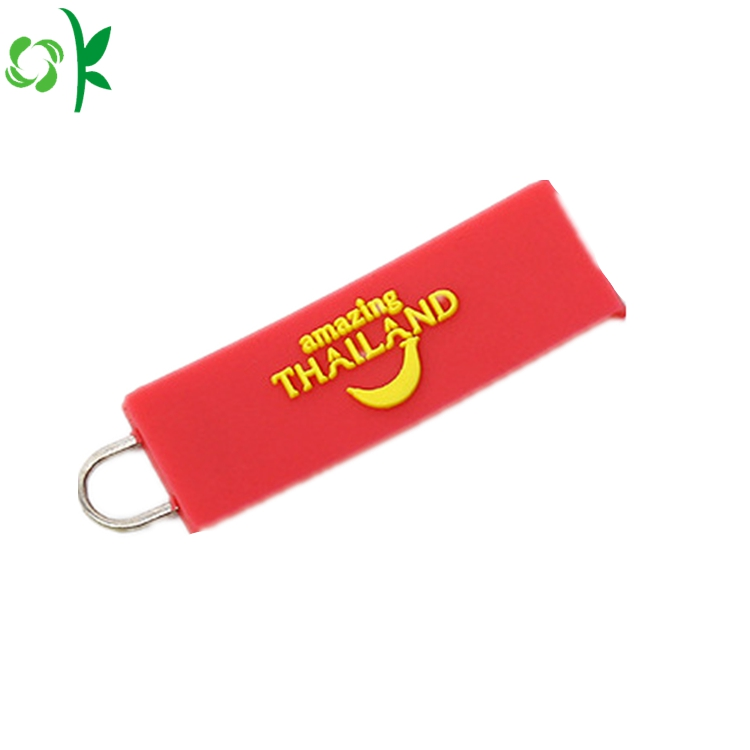 Zipper Puller With Embossed Logo