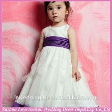 HF6001 cute girls dress for wedding with belt flower girl dress patterns free
