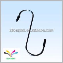 Functional black double supermarket display hanging wire hook