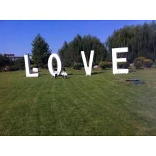 Cartas decorativas de metal Letras de amor