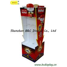 Visor de cartão, visor corrugado, suporte de exposição de papel, visor de piso de papelão, visor POS para gancho, visor de painel de controle (B & C-B026)