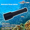 Unterwasser wiederaufladbare 26650 Batterie LED Kunststoff Licht für Tauchen