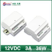 Fonte de alimentação de trilho Din 12VDC 36W 60W