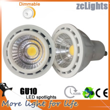 7W GU10 MR16 650lm LED luces del punto de la COB