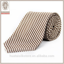 Wholesale high quality color woven wool lining silk neck tie