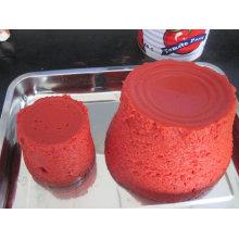 Pasta de tomate con Brix: 22-24% / 28-30% Embalaje en 70g, 800g, 3000g, 4500g (HACCP, ISO, BRC, FDA)