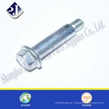 Parafuso acabado personalizado da flange do zinco