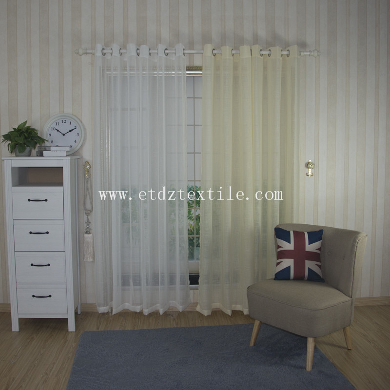 Modern Pattern Sheer Voile Curtain Fabric