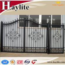 sliding main house gate for villas iron pipe gate design of home