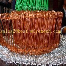 Alambre de lazo doble recubierto / galvanizado del PVC
