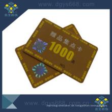 Smart Hot Stamping Kunststoff Mitgliedskarte für Anti-Fake