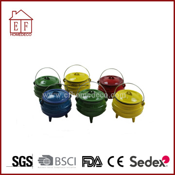 Mini 3Legs Cast Iron Enamel Νότια Αφρική Pot / Potjie