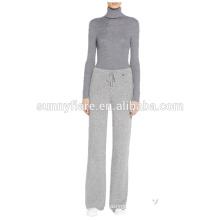 Les femmes à la mode 100% cachemire tricoté pantalon chaud super chaud