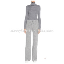 Mulheres de moda 100% Cashmere Knitted Super Warm loose Pants