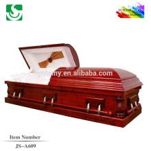JS-A609 Best-seller cercueil de Président en acajou de bonne qualité