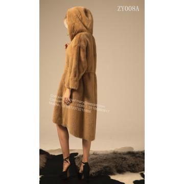Reversible Women Winter Kopenhagen Mink Coat