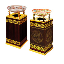 Wooden Dustbin for Lobby with Ashtray (YW0061-2)