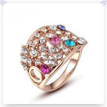 Joyería cristalina accesorios de aleación anillo (al0030g)