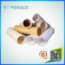 Déchets d'incinération de gaz à fumée filtrables résistant à la corrosion PTFE / sacs de filtre à poussière en téflon