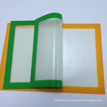 Silicone de alta qualidade da comida de cozimento esteira, esteira resistente ao calor do cozimento, atacado personalizado silicone esteira de cozimento