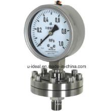 Medidor de pressão diafragmária - Pressão de aço inoxidável - Pressão de glicerina