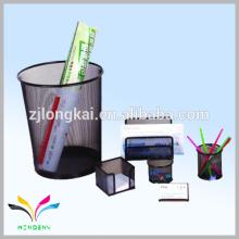 Nueva caja de lápiz del acoplamiento del alambre del metal de la llegada con la escuela determinada del papel de los niños
