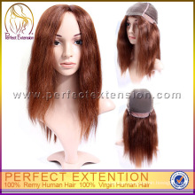 """24"""" Straight Sleek Dark Brown Whole Full Lace For Braided Style Wigs"""