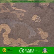 Cráneo con diseño de camuflaje Hilado de poliéster teñido de tela para chaqueta acolchada