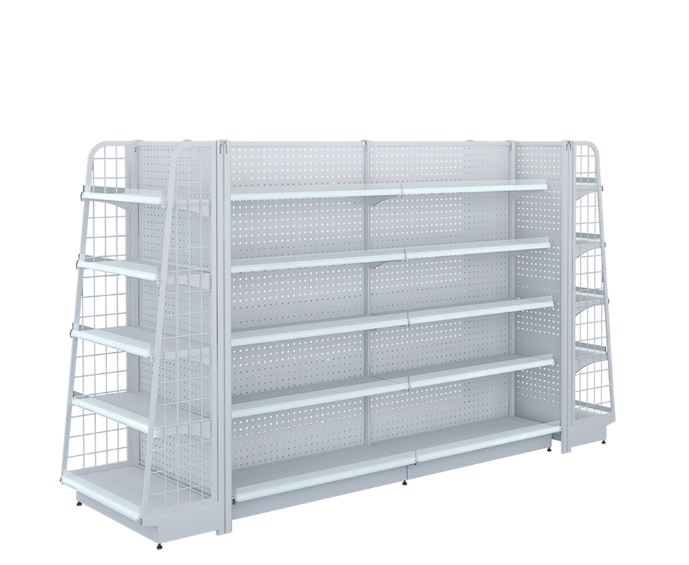 Double-Sided Gondola Shelving